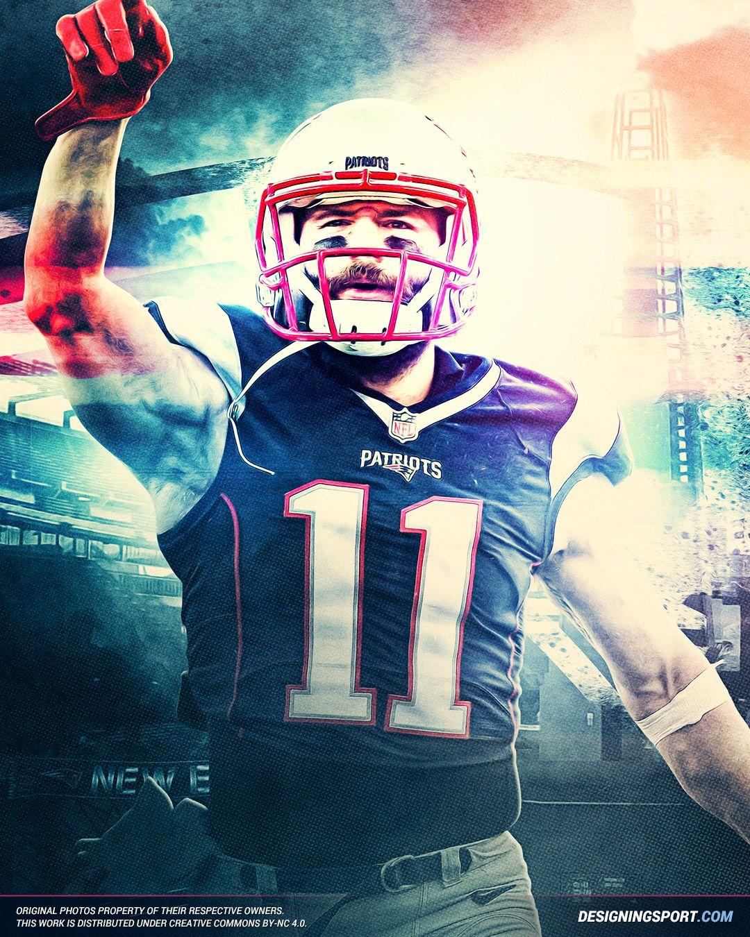 Designing Sport Julian Edelman New England Patriots True New England Patriots Football Julian Edelman New England Patriots