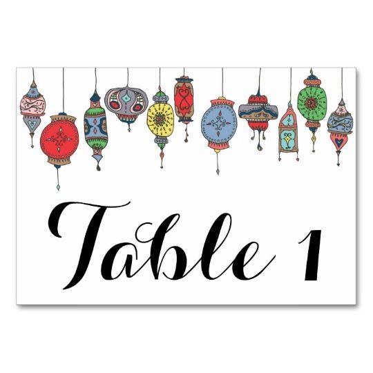 Magical Moroccan Lanterns Table Card