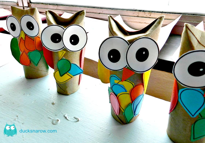 O Is For Owl Preschool Craft