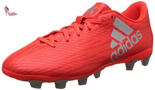 adidas X 16.4 Fxg, Entraînement de football homme, Rouge (Solar Red/silver