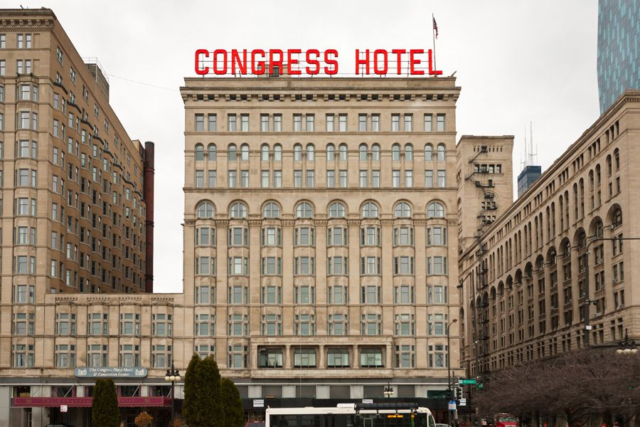 The Congress Hotel And Convention Center In Downtown Chicago