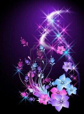 Permalink to Glowing Flower Wallpaper