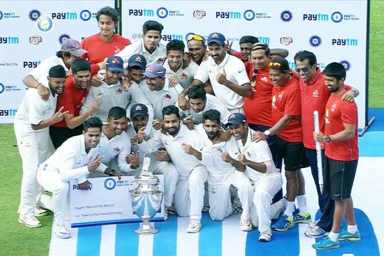 Mumbai has won the Ranji Trophy for the 41st time - http://www.sharegk.com/curent-affairs/sportscurrentaffairs/mumbai-has-won-the-ranji-trophy-for-the-41st-time/ #gk #GeneralKnowledge #Quiz #Awareness #InterviewQuestion  #EntranceExam #OnlineTest #Aptitude #BankExam #GovtExam