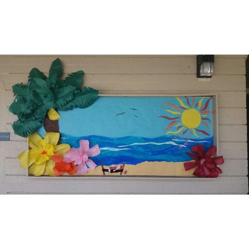 Beach scene for bulletin board