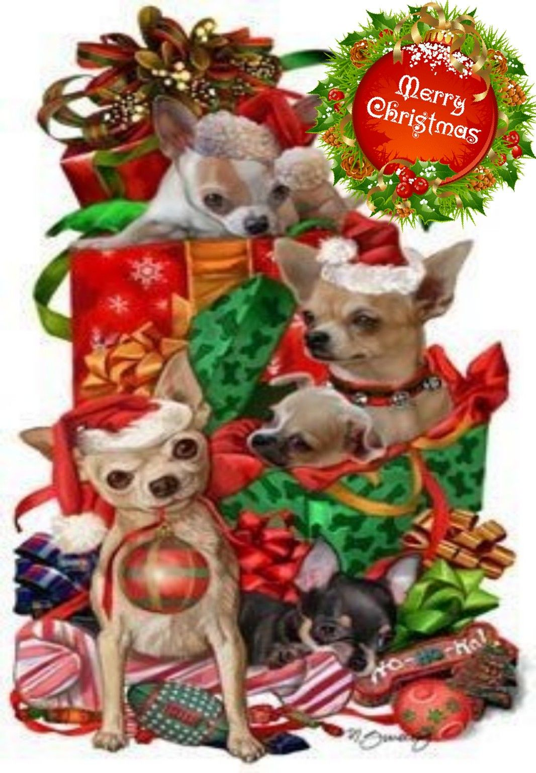 Pin By Jennifer Holmes On Chihuahua Clipart Christmas Animals