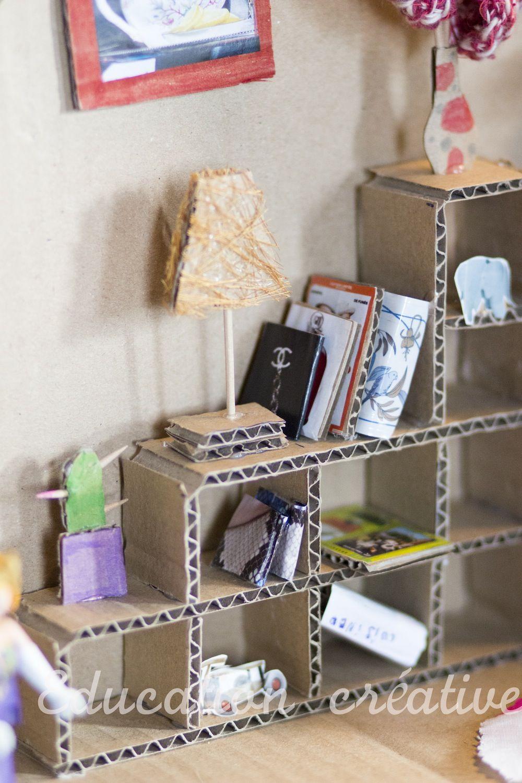 maison poup e carton 6 brico recup pinterest poup e poup e diy et meubles de poup e. Black Bedroom Furniture Sets. Home Design Ideas