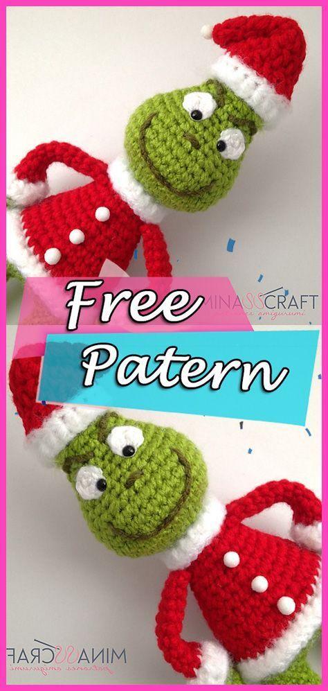 Le modèle gratuit Grinch Amigurumi Crochet - Graphisme #grinchscarfcrochetpatternfree