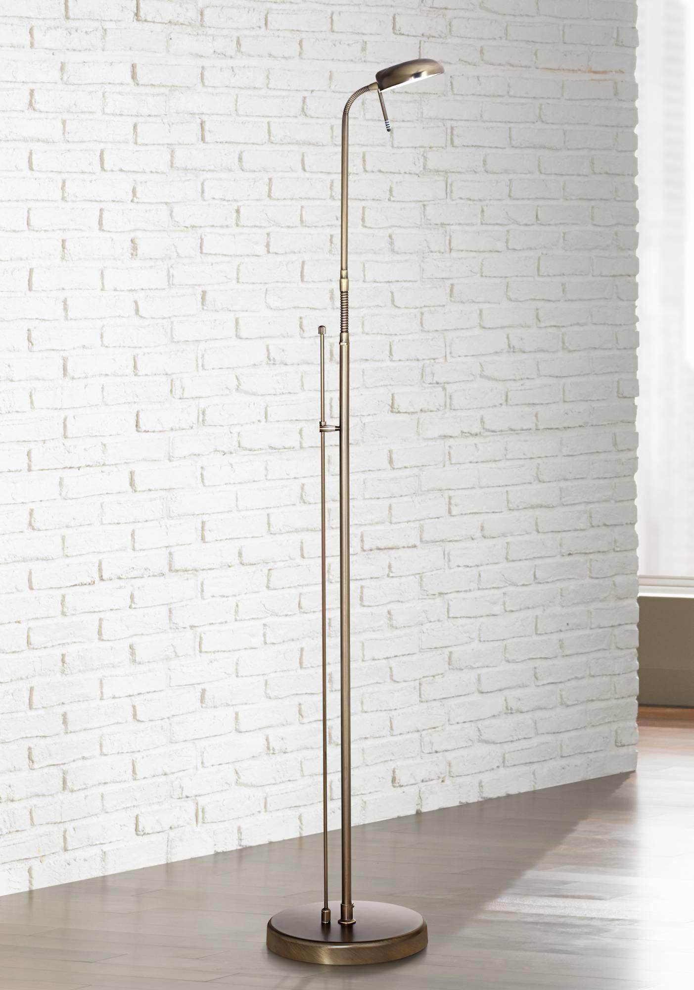 Regan Dark Brass LED Pharmacy Floor Lamp 5R555 Lamps