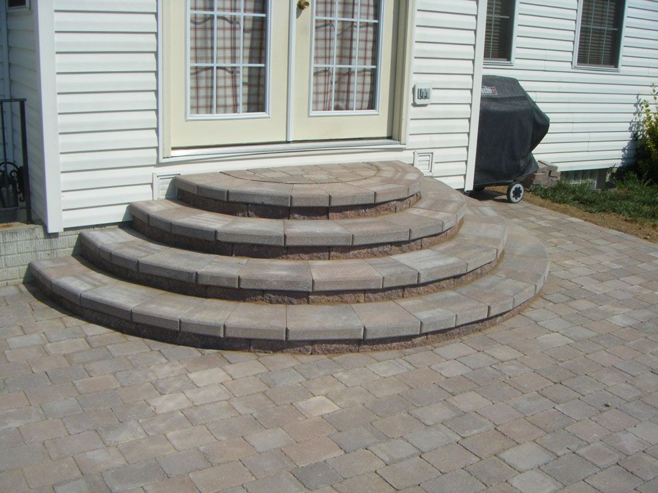 Concrete Patio Stair Design And Layout Patios Pavers Patio