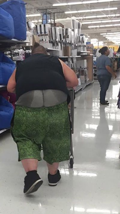 Sweaty buttcrack