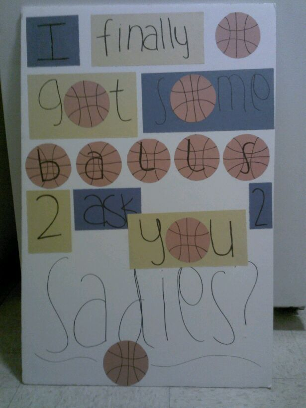 How I Asked A Basketball Player To Sadie Sadie Pinterest