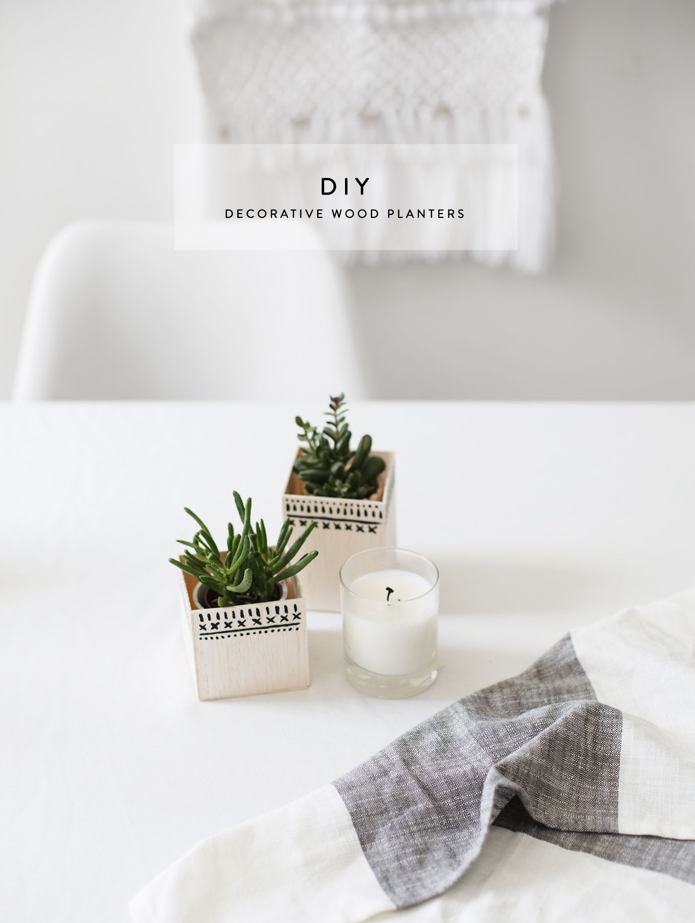 DIY decorative wood planters | easy home craft ideas | diy ...
