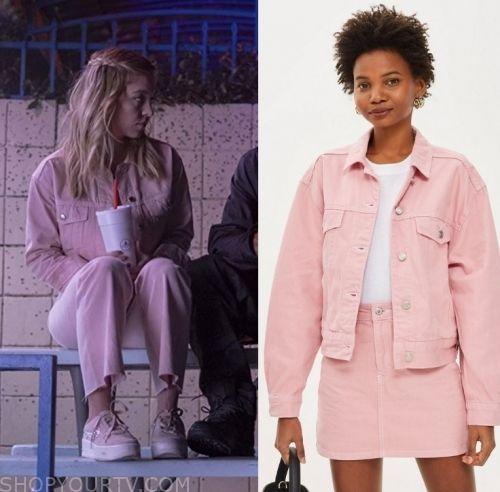 Euphoria: Season 1 Episode 5 Cassie's Pink Denim Jacket #maddyeuphoriaoutfits