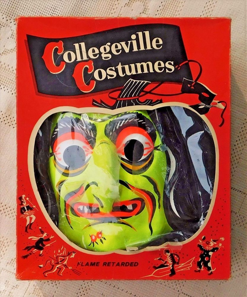VINTAGE 1960s WITCH HALLOWEEN COSTUME COLLEGEVILLE WITH ORIGINAL BOX