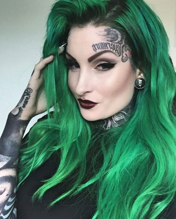 50 Green Hair Dye Ideas That You Will Love With Hairstyle Punk Hair Color Green Hair Green Hair Dye