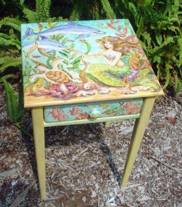 painted mermaid fs sissi by cabinet furniture janku