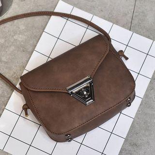 #YesStyle - #Diamante Faux Leather Crossbody Bag - AdoreWe.com