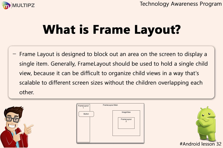 Technology Awareness Program Android Lesson 32: FrameLayout is ...