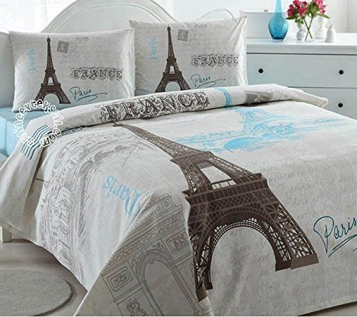 Paris Eiffel Tower Lightweight Summer Comforter Blanket