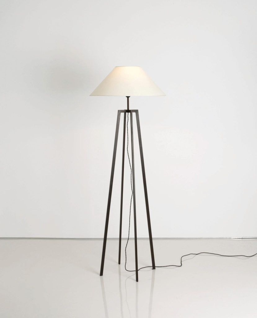 Cogolin Standing Lamp Base In Metal Profile P10 20