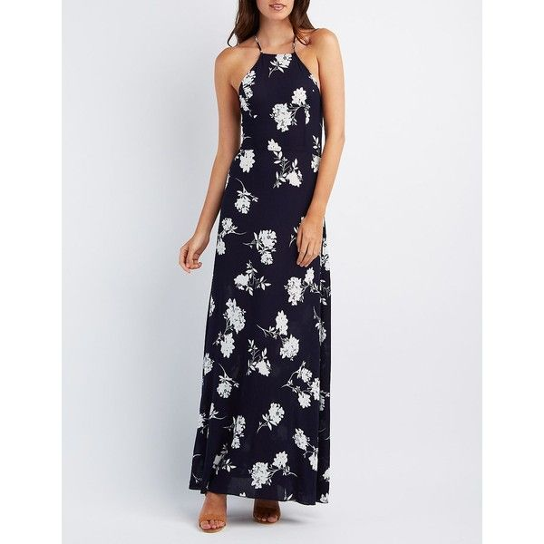 741c028ee8d Charlotte Russe Floral Strappy Maxi Dress ( 39) ❤ liked on Polyvore  featuring dresses