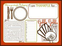 Halloween Thanksgiving Fall Diy Craft Ideas Free Thanksgiving Printables Thanksgiving Placemats Thanksgiving Activities For Kids