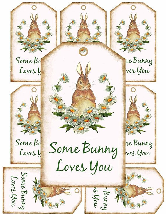 Bunny tags some bunny loves you tags easter basket gift tags bunny tags some bunny loves you tags easter basket gift tags printable tags negle Image collections