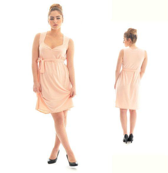Verkauf Peach Kleid / Frauen Tunika Kleid / Tunika von onor auf Etsy, $49.00