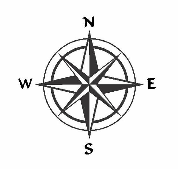 Compass Rose Single Layer Vector File
