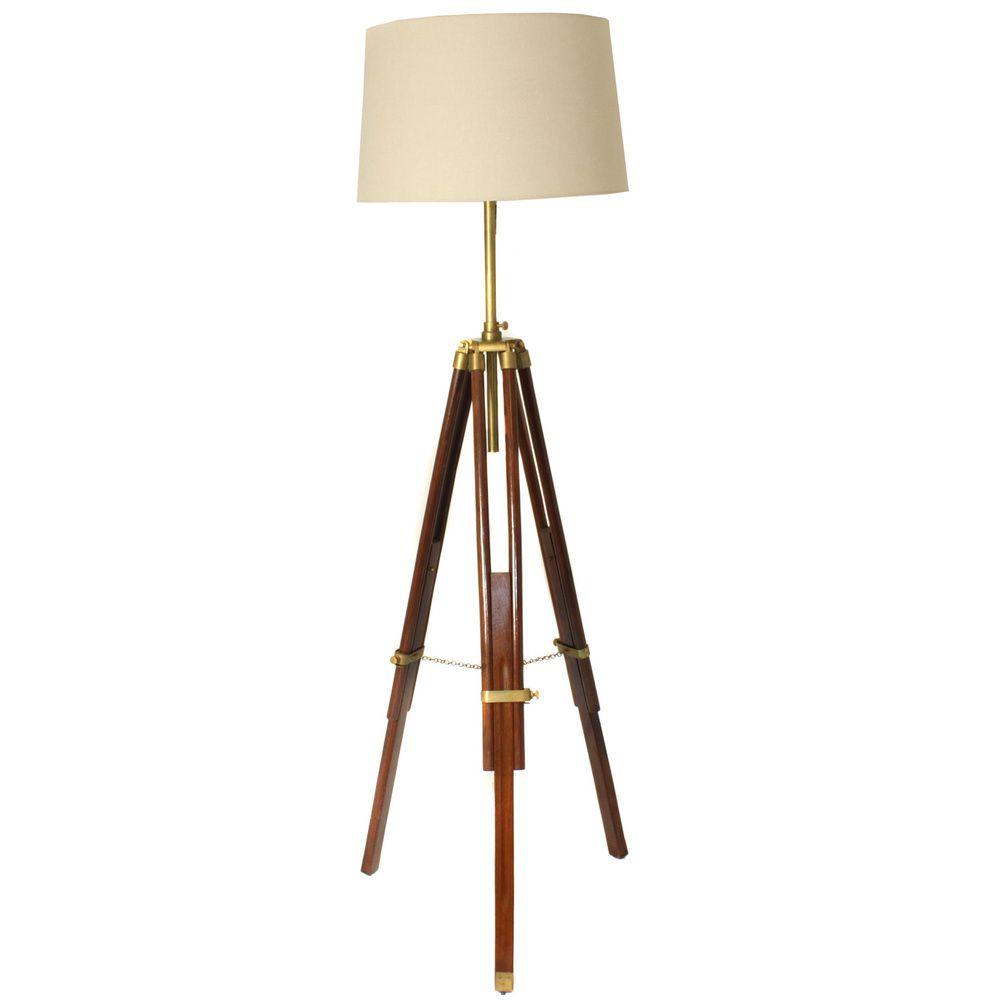Casa Cortes Marine Tripod 75-inch Height Adjustable Floor Lamp ...