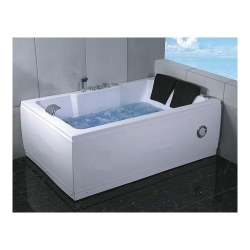 2 Two Person Indoor Whirlpool Massage Hydrotherapy White Bathtub Tub With  FREE Remote Control And Water Heater