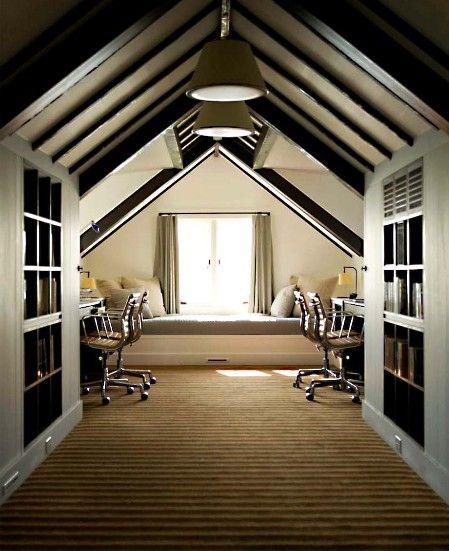 Attic Home Office Design Attic Rooms Attic Remodel Attic Spaces