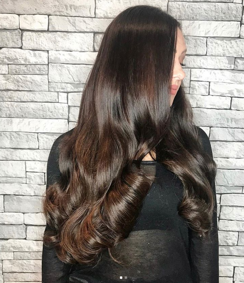 22 Inch Brunette Clip In Hair Extensions In Raven Beauty Works Hair