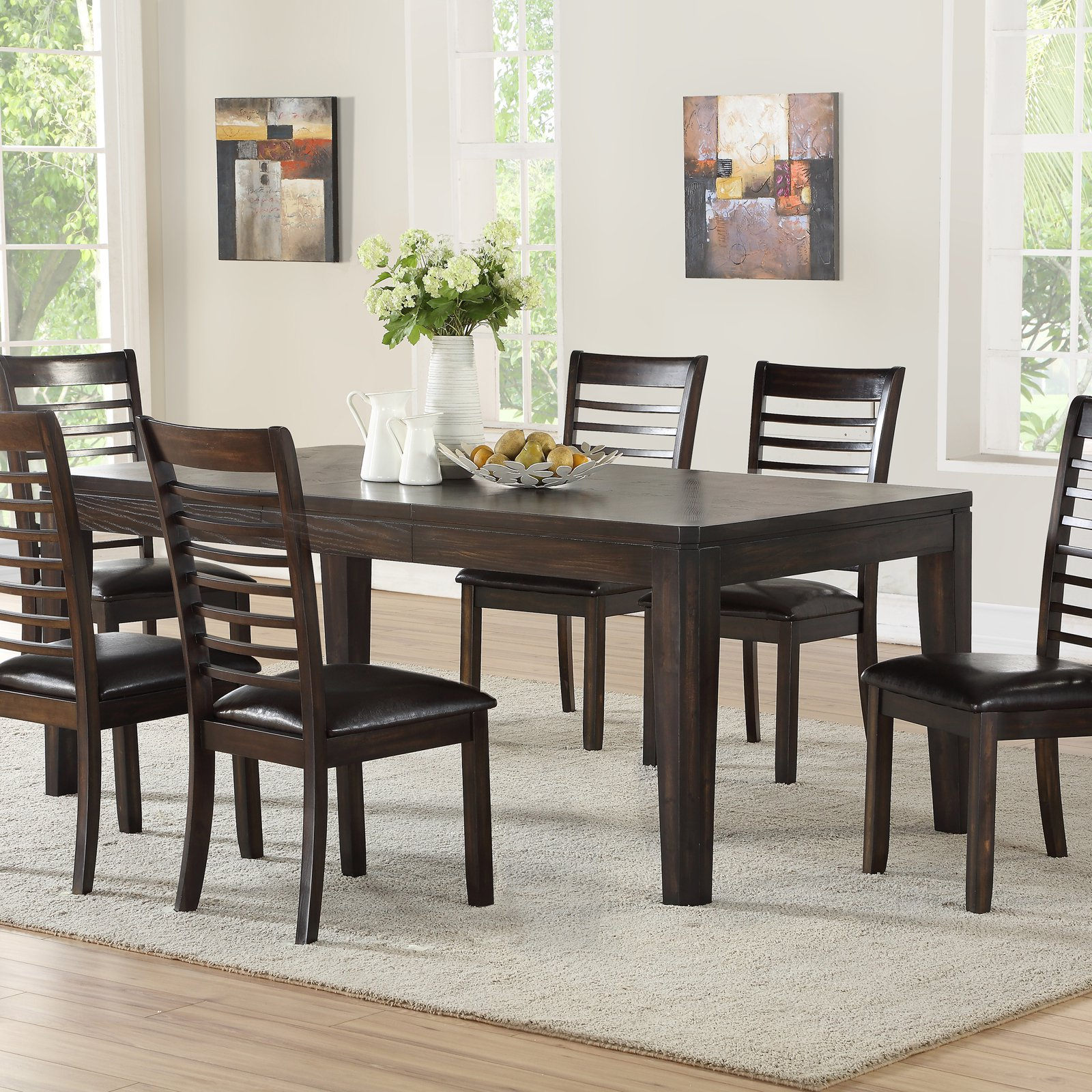 Steve Silver Co Ally 60 In Dining Table With Extension Leaf