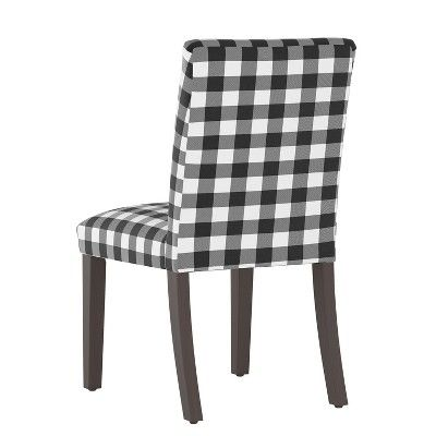 Sensational Hendrix Dining Chair Black White Check Cloth Co Adult Squirreltailoven Fun Painted Chair Ideas Images Squirreltailovenorg