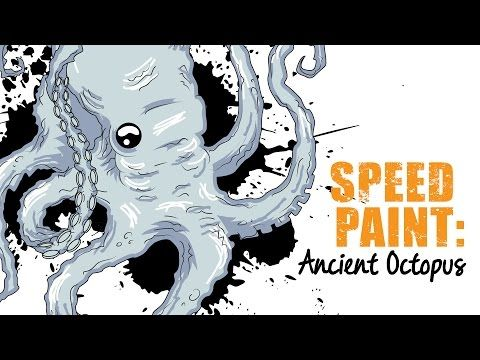 Illustrator Speed Paint | Ancient Octopus Design - YouTube