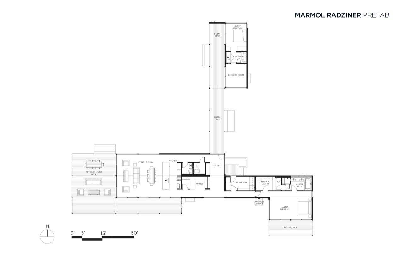 Gallery Of Hidden Valley Marmol Radziner Prefab 17 Modular Home Floor Plans Prefab Modular Homes Modular Home Plans