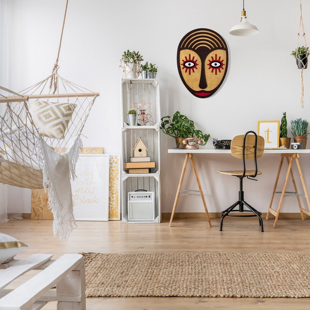Boho and bohemian style wall decor inspire abstract wood