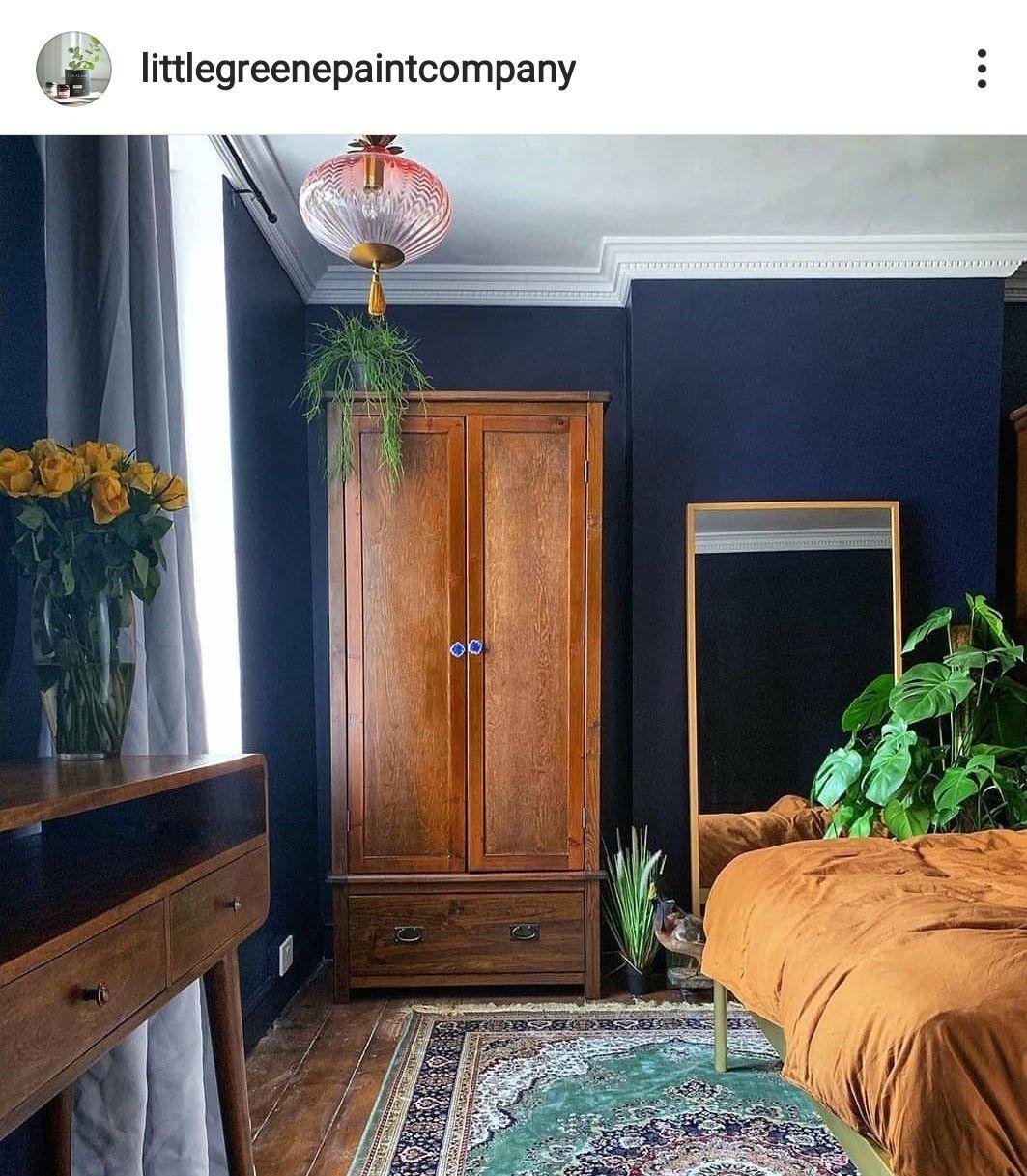 Dock Blue Little Greene Paint Blue Bedroom Decor Dark Blue Bedroom Walls Blue Bedroom Walls