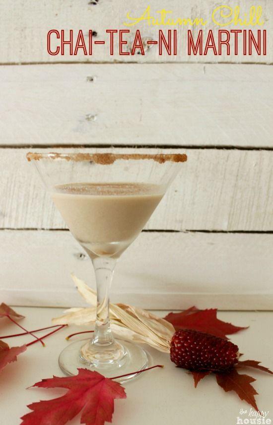 Autumn Chill Chai-Tea-Ni Martini {& 9 Festive Fall Drinks} | The Happy Housie
