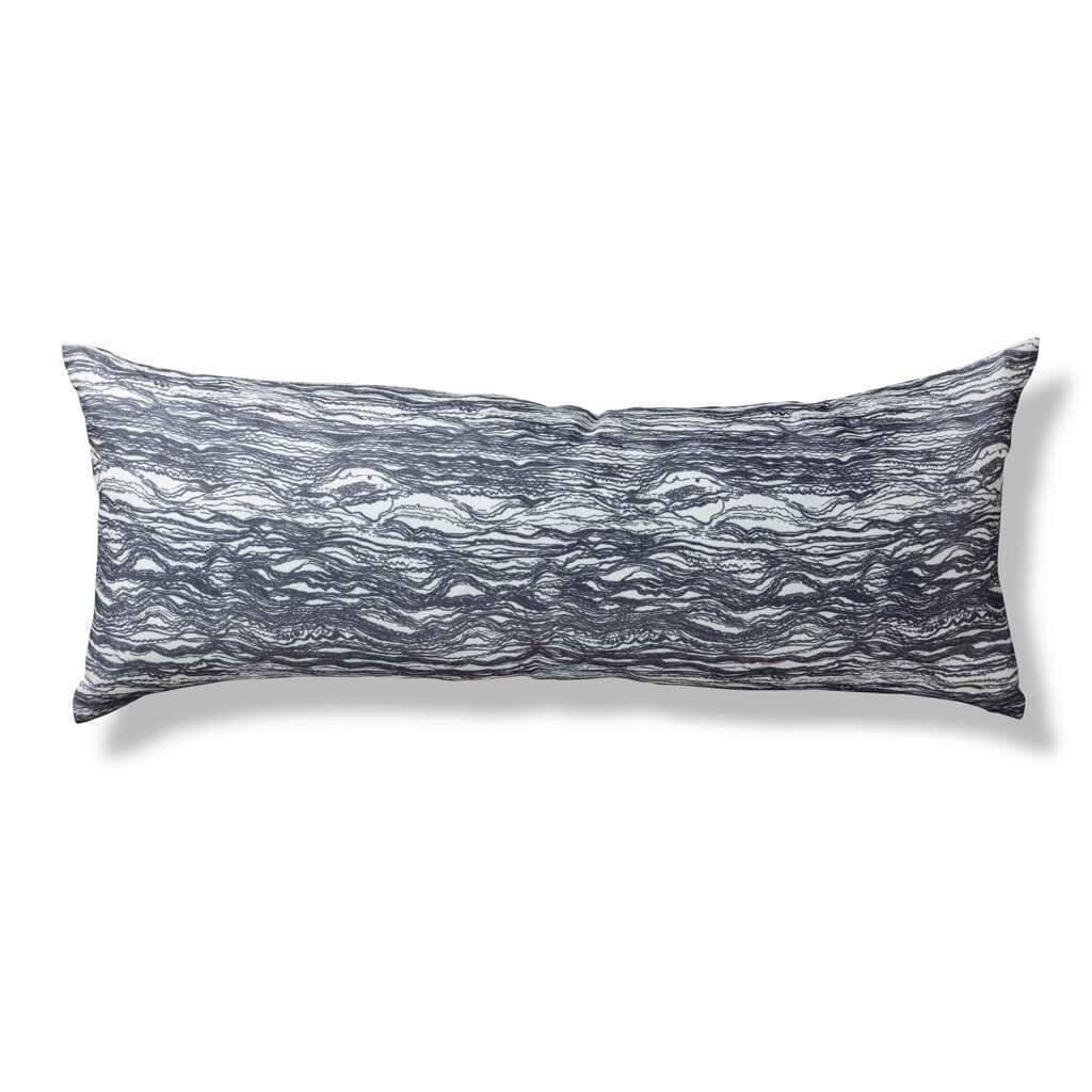 Dashes Amp Waves Lumbar Pillow In Gray Lumbar Pillow Long