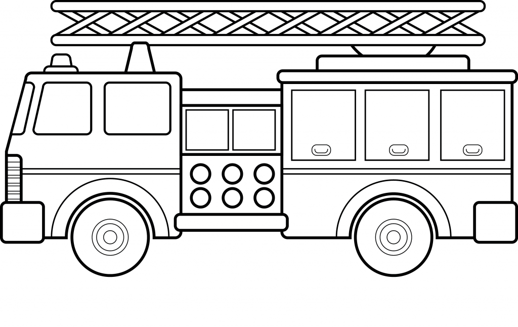 Free Printable Fire Truck Coloring Pages For Kids 塗り絵 쉬운