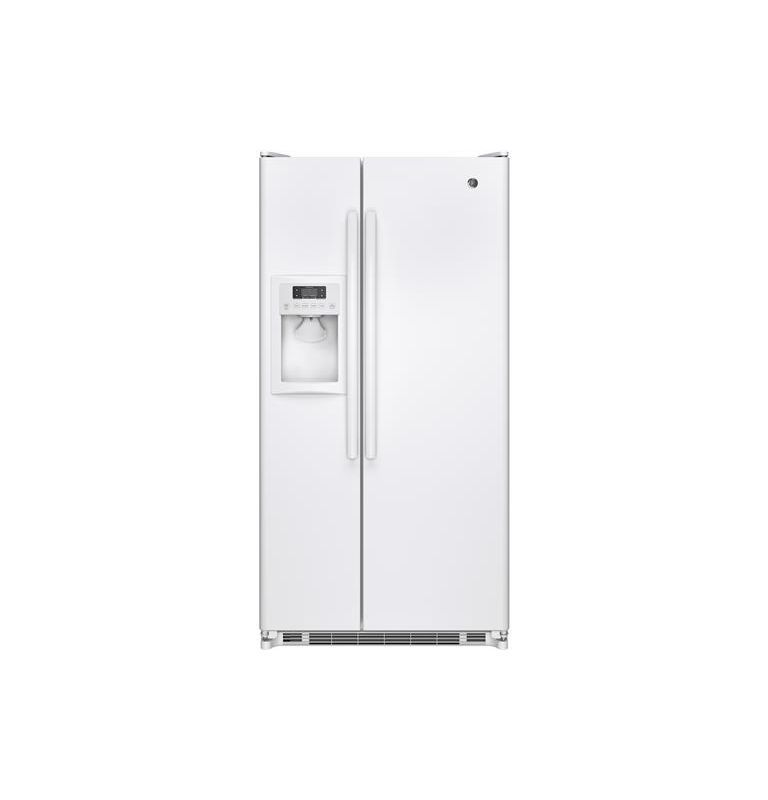 GE GSE22E 33-1/2 Inch 21.8 Cu. Ft. Side by Side Refrigerator with Adjustable-Tem White Refrigerators Side By Side Fridge
