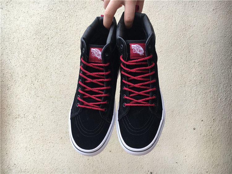 3e52019bec13 Vans SK8-Hi MTE black   red non-slip large floor shoes men and women shoes  36-44