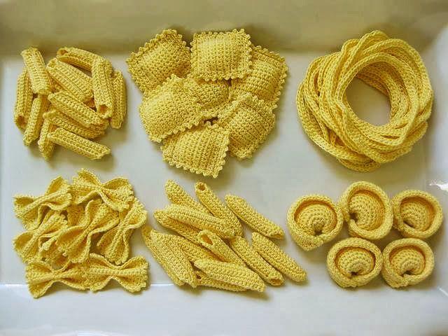Pasta Party Pattern By Normalynn Hood Amigurumi Pinterest