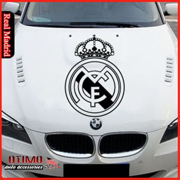 Otimo sports car head waterproof real madrid car sticker automobile decoration sticker car auto styling sticker