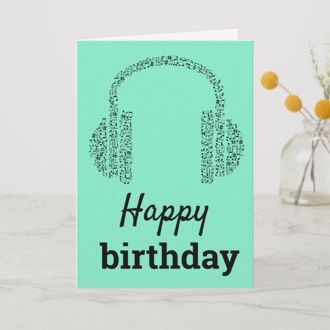 Funky Headphones Dj Music Happy Birthday Card Zazzle Com In 2021 Music Happy Happy Birthday Music Happy Birthday Dj