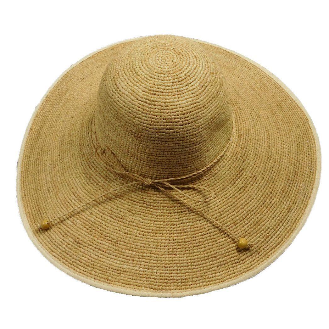 Crochet Raffia Beach Hat  615d4d0bba4d