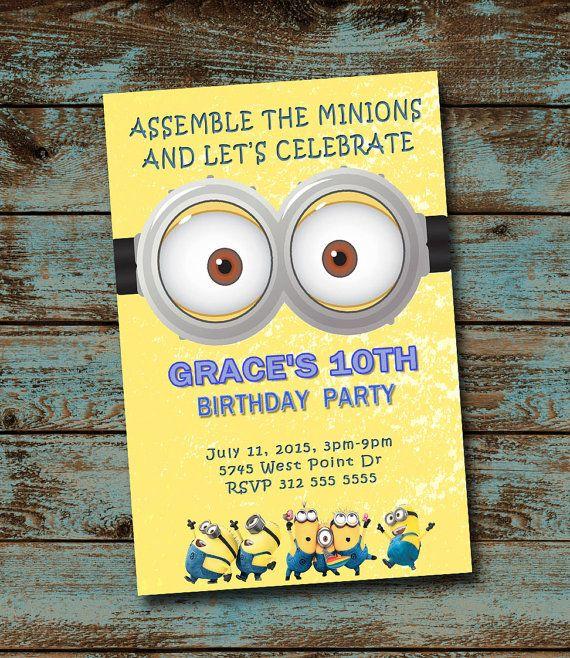 Minions Birthday Invitation Minions Invitation by TDADesign - best of sample invitation to birthday party