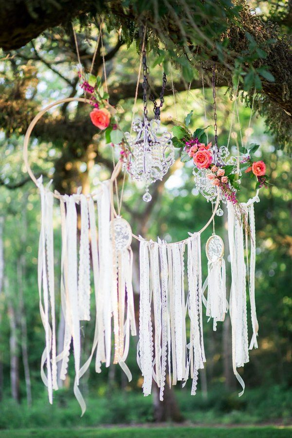 Bohemian style wedding party decoration ideas